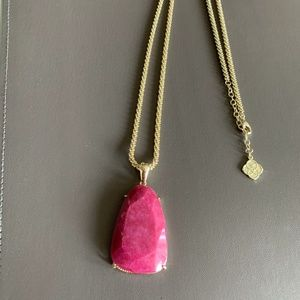 Kendra Scott Custom Gold & Pink Jade Sandra